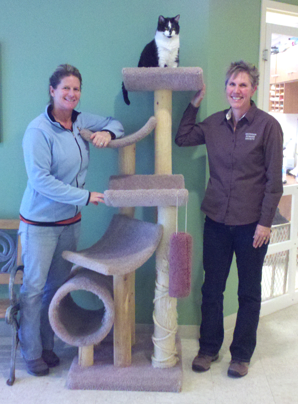 Linda with Deter Racine at Little Traverse Bay Humane Society in Harbor Springs