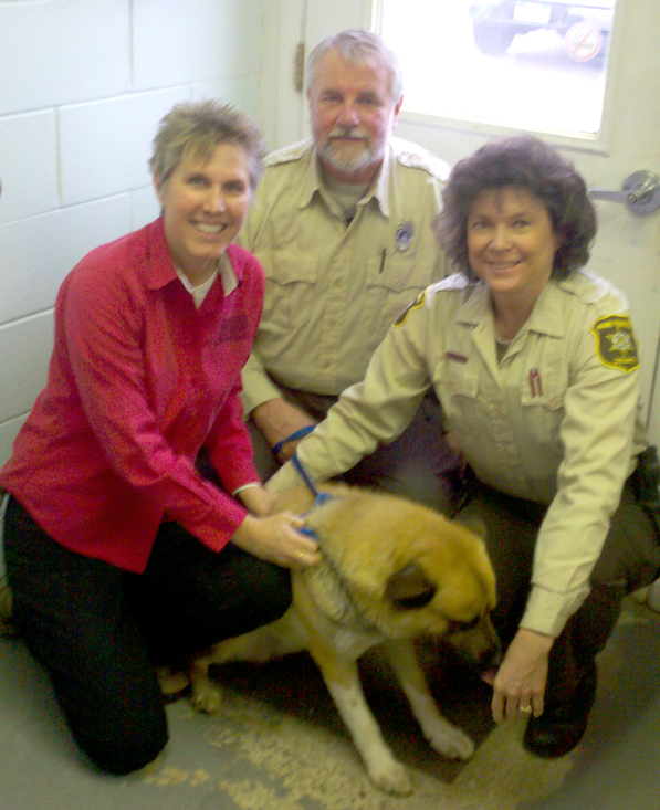 Linda meets with Ed and Cindy at Grand Traverse Animal Control