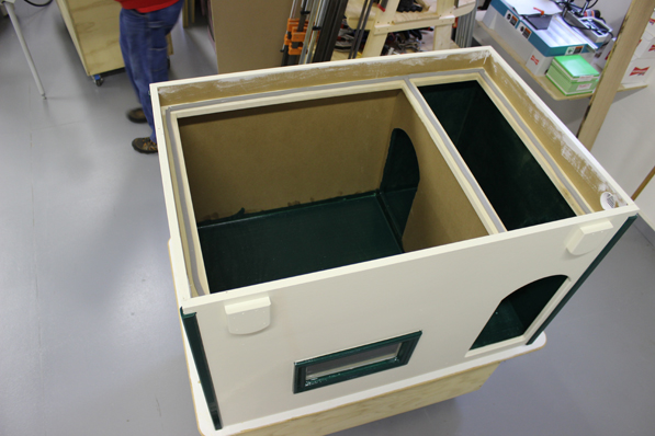 Dr. Mike Shultie built these dog houses - with the advantages of special features built into his design and craftsmanship. This is the second deluxe dog house the TC cardiologist has built and donated to the AC PAW Dog Housing Project.