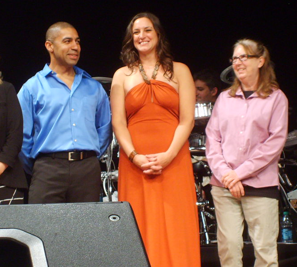Dancer Danny Brizard, his partner Veterinarian Dr. Jennifer Klabunde and June McGrath of AC PAW.