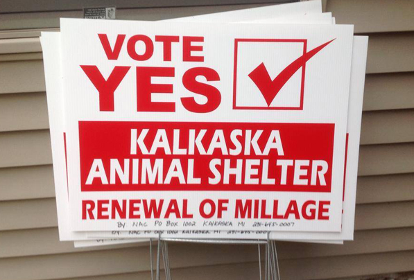 kalkaska millage sign