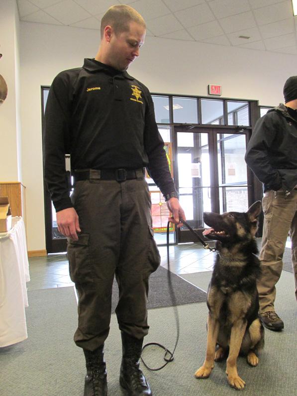 Grand Traverse K9 Jax with handler, Deputy Matt Jerome