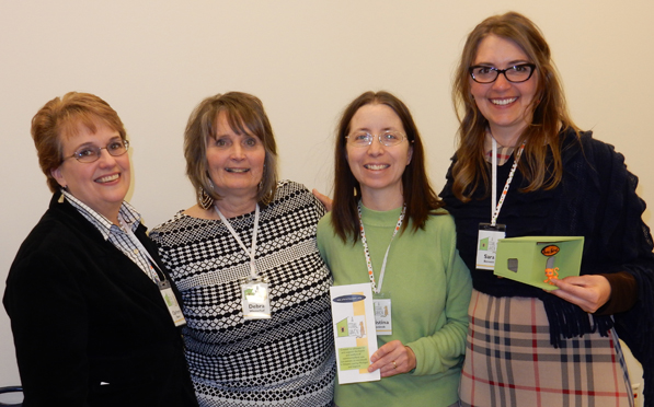 A Feral Haven board members (left to right): Carleen Everett–Bauer, Debra Westerhof, Christina DeConinck and Sara Bennett