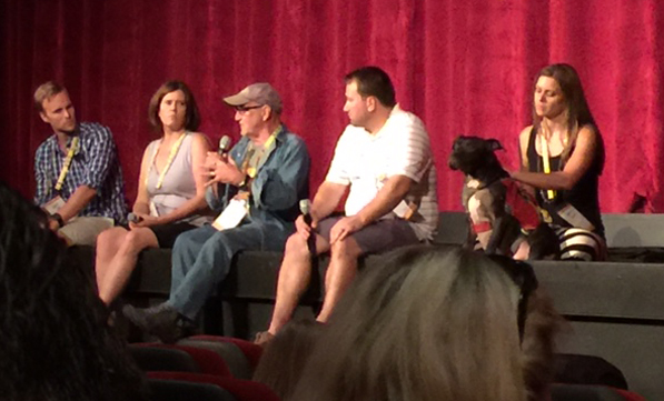 Question and answer session on stage after the documentary.
